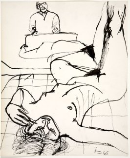 Untitled (Richard Diebenkorn Drawing from a Model)