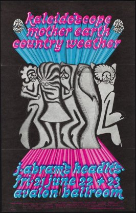 """""""The Popup Poster,"""" Kaleidascope, Mother Earth, Country Weather, June 21 - 23, Avalon Ballroom"""