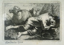 [Plate 3 from a set of] etchings of Animals and Peasants