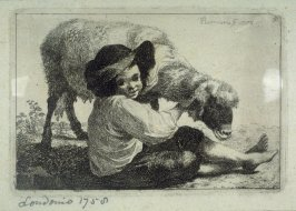 Plate 5 from a set of etchings of Animals and Peasants