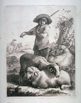 [One from a set of] etchings of Animals and Peasants