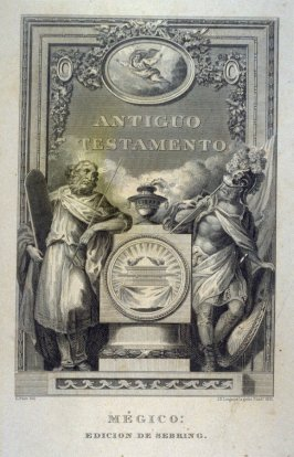 Antiguo Testamento (Old Testament) from the Sebring edition of the Bible published in Mexico in 1831