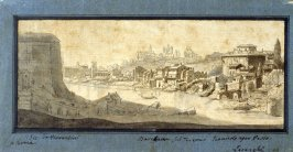 View on the Tiber in Rome (Roman Cityscape)