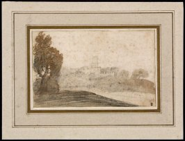 Recto: Untitled (Wooded Landscape)
