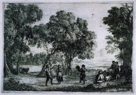 La Danse sous les arbres (The Country Dance, small plate)