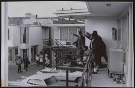 """""""On Memphis balcony after King was shot,"""" Memphis, TN, 1968"""