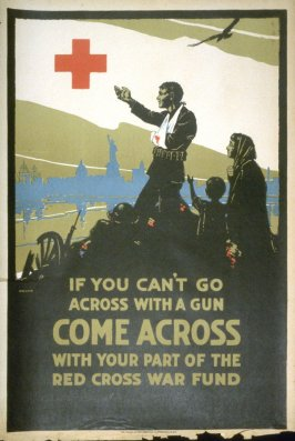 If You Can't Go Across with a Gun - World War I Poster