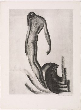 Untitled ( Standing Nude and Wave)