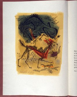 Untitled, plate on page 2 in the book A Fox and a Sick Lion , no. 4 in Sir Roger L'Estrange's Fables of Aesop and other Eminent Mythologies(Bloomington, Indiana: Corydon Press, 1944)5