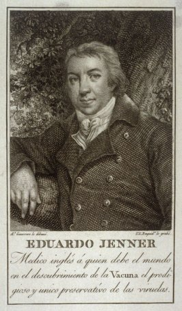 Portrait of Dr. Edward Jenner, discoverer of the smallpox vaccination