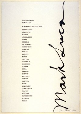 Portfolio of thirty portraits of Scientists (Title page)