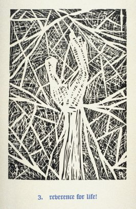 Reverence for Life! - Pl.3 from Back to the Cave, a Portfolio of Twelve Prints