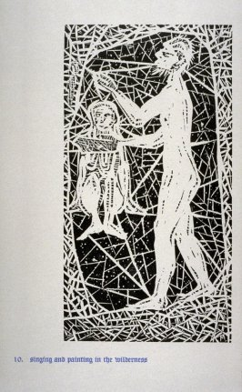 Singing and Painting in the Wilderness - Pl.10 from Back to the Cave, a Portfolio of Twelve Prints