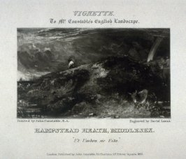 Plate 22: Hampstead Heath, Middlesex, vignette in the album 'Various Subjects of Landscape, Characteristic of English Scenery' (London: John Constable, 1830-[1832])