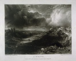Plate 9: A Heath, from the album 'Various Subjects of Landscape, Characteristic of English Scenery' (London: John Constable, 1830-[1832])