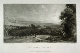 Plate 3: Autumnal Sunset, from the album 'Various Subjects of Landscape, Characteristic of English Scenery' (London: John Constable, 1830-[1832])