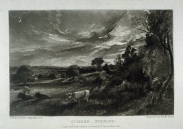 Plate 7: Summer Evening, from the album 'Various Subjects of Landscape, Characteristic of English Scenery' (London: John Constable, 1830-[1832])