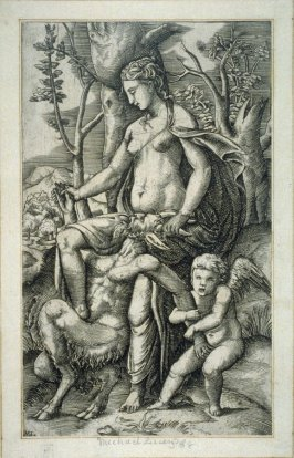 Venus and Cupid Holding a Satyr
