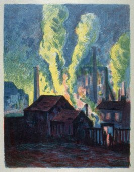 Usines de Charleroi (Blast Furnaces) published as Hochöfen, in Pan IV, I, 1898
