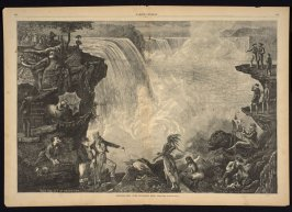 Niagara seen with different eyes, from Harper's Weekly,  9August 9. 1873), pp. 696-697