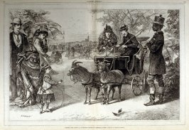 Taking the Reins - A familiar scene in Central Park - from Harper's Weekly,  (September 27. 1873), pp. 848-849