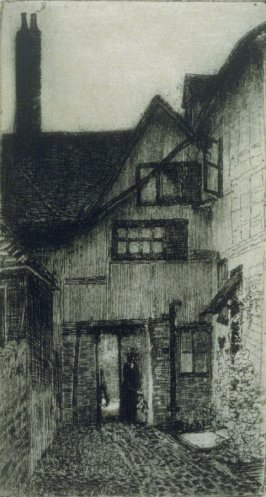 [Courtyard of a house]