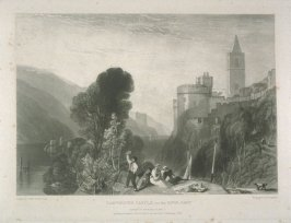 Plate 8: Dartmouth Castle on the River Dart, from the series 'The Rivers of England'