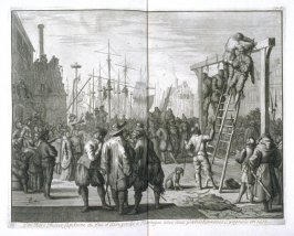 The Hanging of Don Pedro Pacieco, Captain of the Duke of Alva, at Flushing (Vlissingen), 1572- Pl.8 from: Netherlands 1566-1672