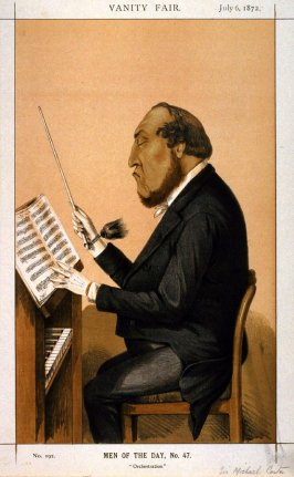Orchestration (Sir Michael Costa) from Vanity Fair, July 6, 1872