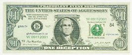 The United States of Aggression, One Deception, Fraudulent Event Note