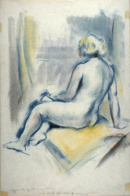 Seated Female Nude (exposed back)