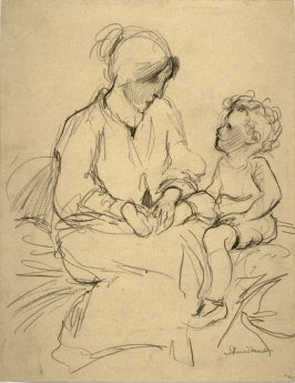 Study - mother and child.