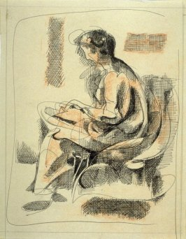 Study : seated woman reading