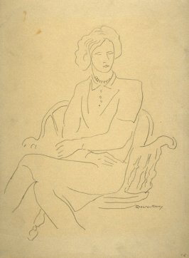 Study of seated female