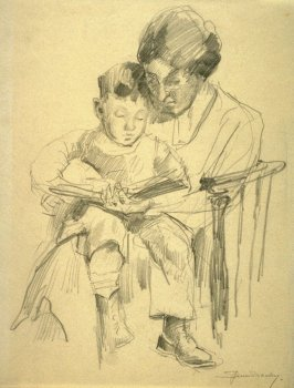 Study - mother and child
