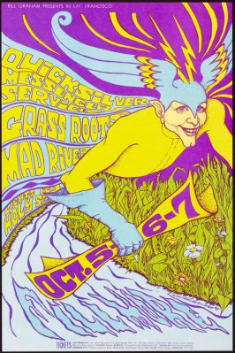 Quicksilver Messenger Service, Grass Roots, Mad River, October 5 - 7, Fillmore Auditorium