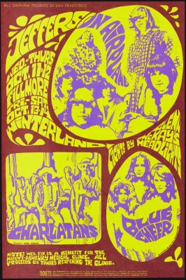 Jefferson Airplane, Charlatans, Blue Cheer, October 11 & 12, Fillmore Auditorium, October 13 & 14, Winterland