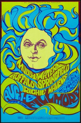 Muddy Waters, Buffalo Springfield, Richie Havens, August 1 - 6, Fillmore Auditorium
