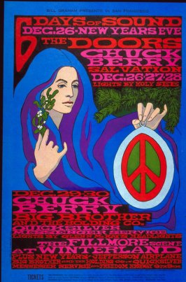 Doors, Chuck Berry, Salvation, Big Brother & the Holding Company, Quiucksilver Messenger Service, Jefferson Airplane, Freedom Highway, December 26 - 31, Winterland