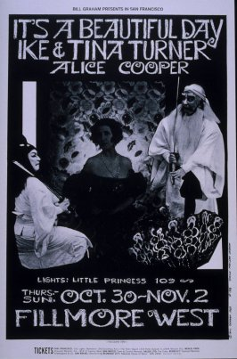 It's a Beautiful Day, Ike and Tina Turner, Alice Cooper, October 30 - November 2, Fillmore West