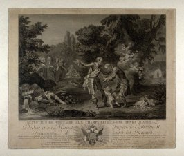 Voltaire received by Henri IV at the Champs Elysees