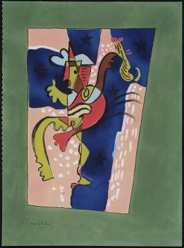 Untitled (Cubist Figure with Guitar)