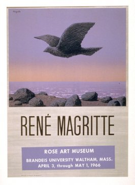 Untitled Poster for Magritte Exhibition, Rose Art Museum, Brandeis University