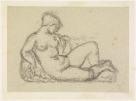 Reclining Female Nude (study for Cezanne monument)