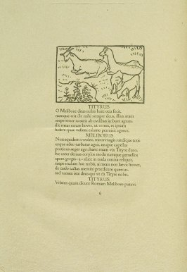 Untitled, pg. 6, in the book Les Éclogues de Virgile by Virgil (translation by Marc Lafargue) (London: Ebery Walker Limited (for Cranach Presse, Weimar), 1926)