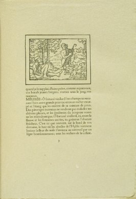 Untitled, pg. 9, in the book Les Éclogues de Virgile by Virgil (translation by Marc Lafargue) (London: Ebery Walker Limited (for Cranach Presse, Weimar), 1926)