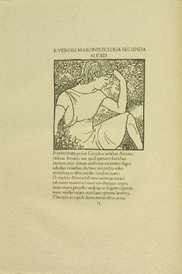 Untitled, pg. 14, in the book Les Éclogues de Virgile by Virgil (translation by Marc Lafargue) (London: Ebery Walker Limited (for Cranach Presse, Weimar), 1926)