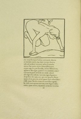 Untitled, pg. 16, in the book Les Éclogues de Virgile by Virgil (translation by Marc Lafargue) (London: Ebery Walker Limited (for Cranach Presse, Weimar), 1926)
