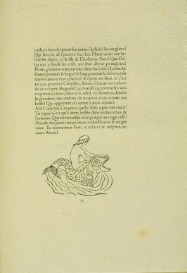 Untitled, pg. 21, in the book Les Éclogues de Virgile by Virgil (translation by Marc Lafargue) (London: Ebery Walker Limited (for Cranach Presse, Weimar), 1926)