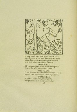 Untitled, pg. 28, in the book Les Éclogues de Virgile by Virgil (translation by Marc Lafargue) (London: Ebery Walker Limited (for Cranach Presse, Weimar), 1926)